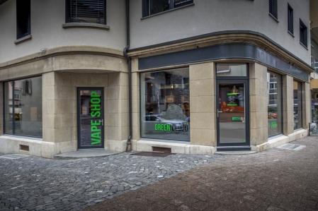 Boutique de vape spécialisée Green Cloud située à MONTHEY
