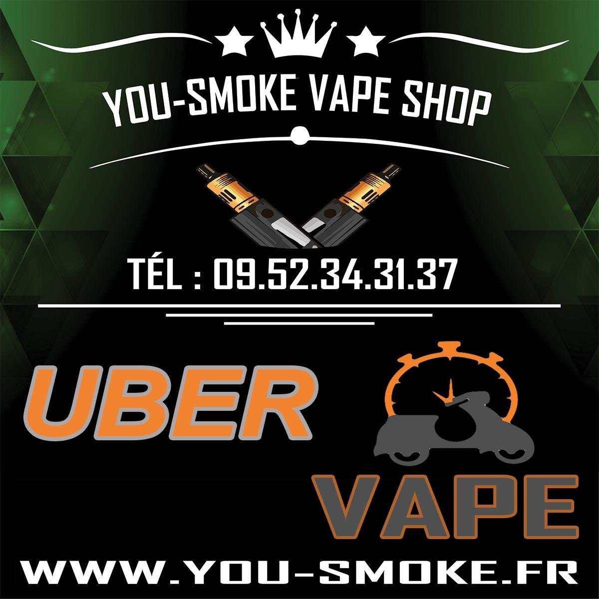 Boutique de vape spécialisée YOU-SMOKE située à VILLEPARISIS