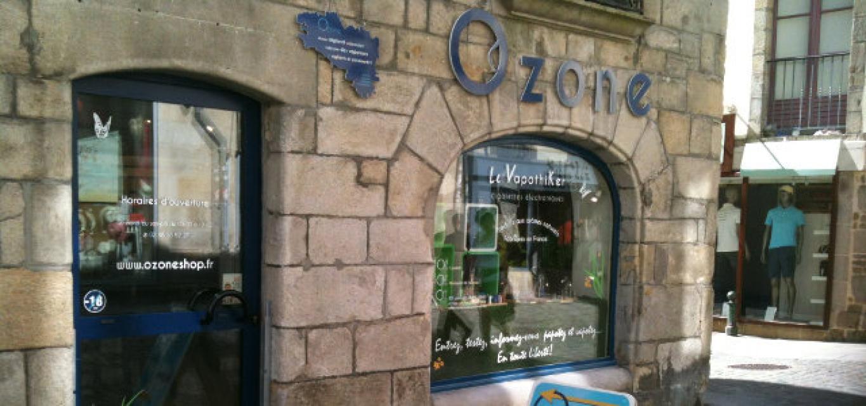 Boutique de vape spécialisée OZONE située à QUIMPER