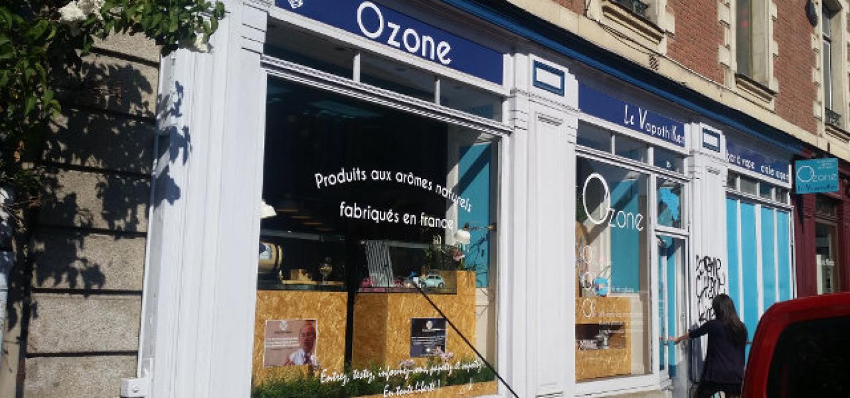 Boutique de vape spécialisée OZONE située à RENNES