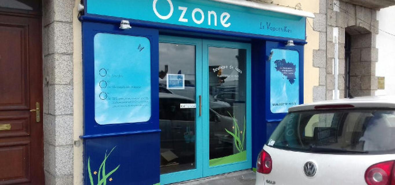 Boutique de vape spécialisée OZONE située à CONCARNEAU