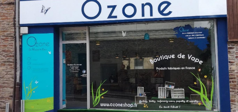 Boutique de vape spécialisée OZONE située à MONTAUBAN DE BRETAGNE