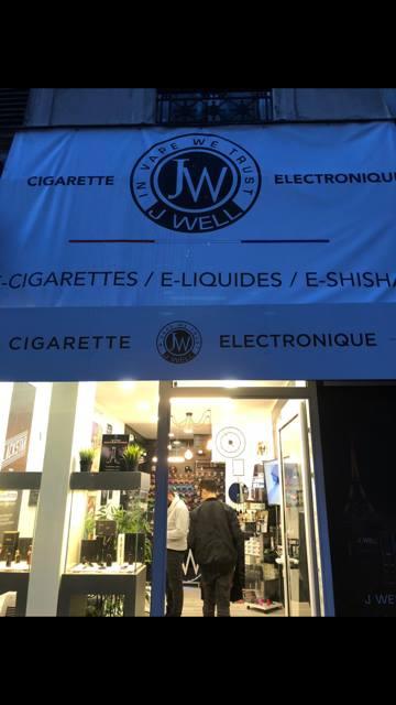 Boutique de vape spécialisée JWELL située à PARIS 10E ARRONDISSEMENT