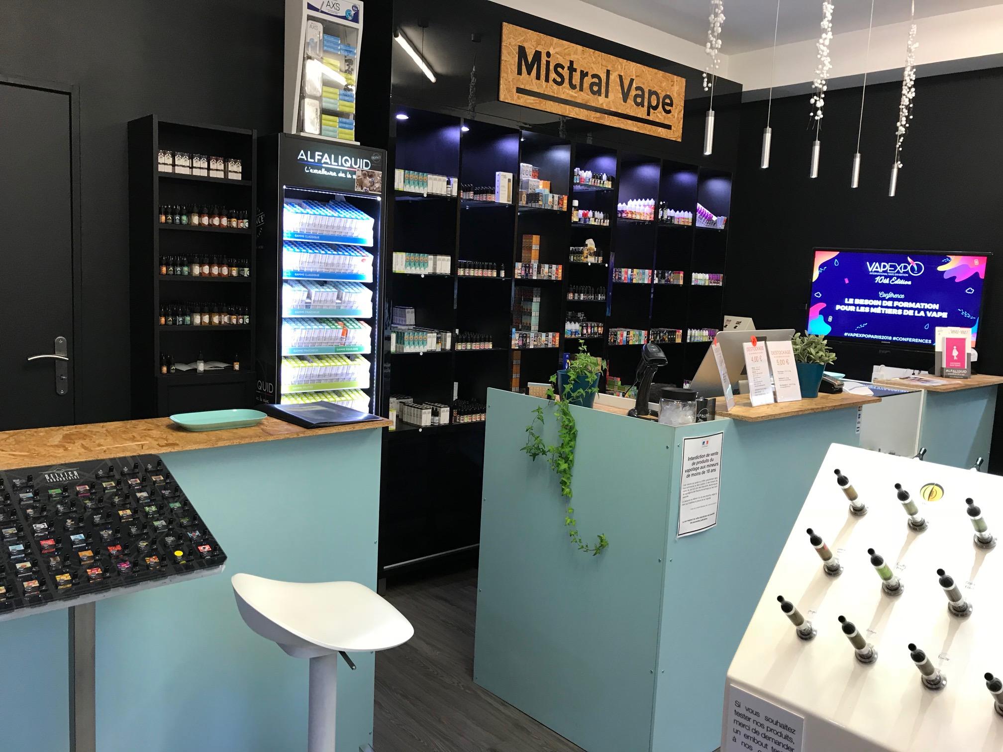 Boutique de vape spécialisée MISTRAL VAPE située à AVIGNON