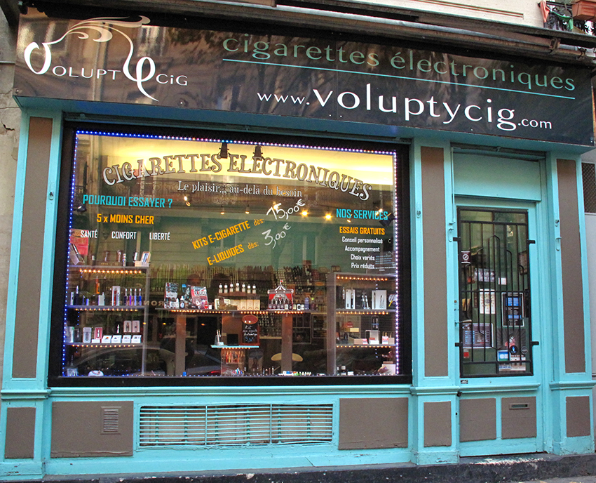 Boutique de vape spécialisée VOLUPTYCIG située à PARIS