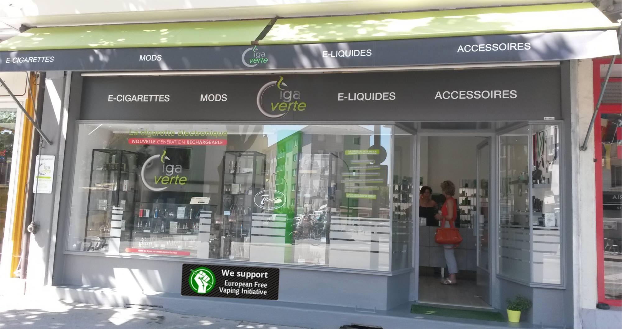 Boutique de vape spécialisée CIGAVERTE située à ANNECY