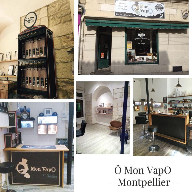 Boutique de vape spécialisée Ô MON VAPO située à MONTPELLIER