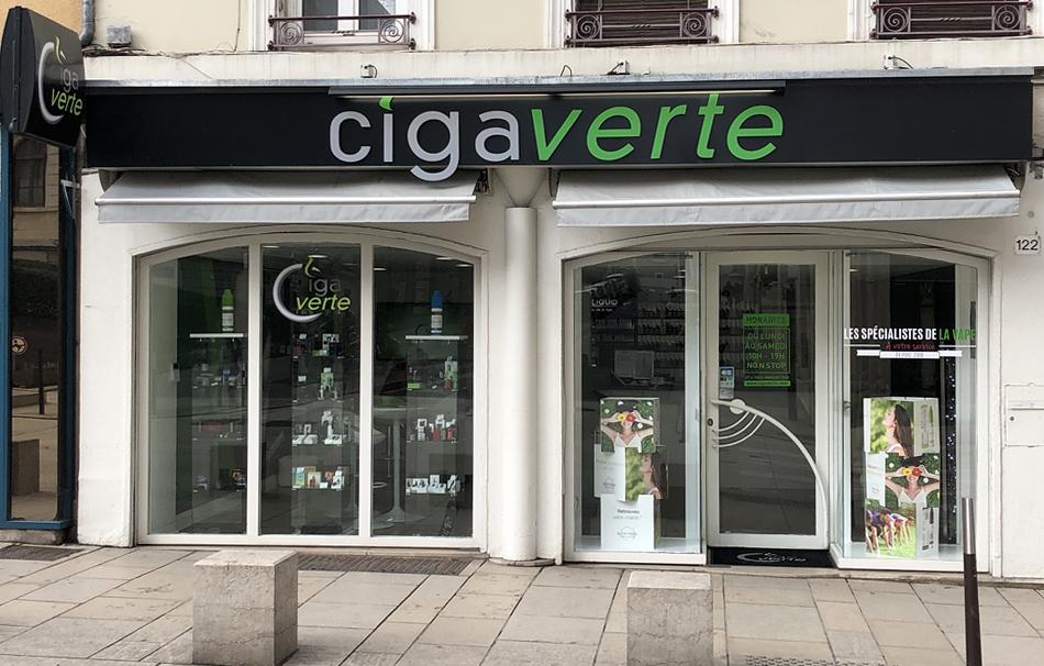 Boutique de vape spécialisée CIGAVERTE située à OULLINS